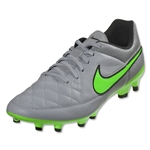 Nike Tiempo Genio Leather FG (Wolf Gray/Green Strike)