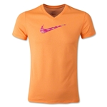 Nike Legend V-Neck Swoosh Fill Youth T-Shirt (Orange)