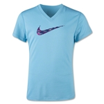 Nike Legend V-Neck Swoosh Fill Youth T-Shirt (Sky)