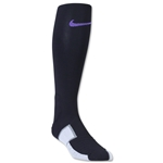 Nike Elite Match Fit Soccer OTC Sock (Blk/Pur)