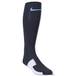 Nike Elite Match Fit Soccer OTC Sock (Black/Sky)