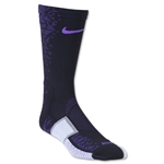 Nike Match Fit Elite Hypervenom Sock (Blk/Pur)