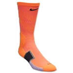 Nike Elite Match Fit Soccer Crew Sock (Org/Blk)