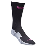 Nike Match Fit Soccer Crew Sock (Black/Pink)