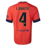 Barcelona 14/15 I. RAKITIC Away Soccer Jersey