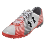 Under Armour ClutchFit Force Turf Soccer Shoes (White/Steel/After Burn)