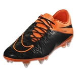 Nike Hypervenom Phantom II Leather SG-Pro (Black/Black/Total Orange)