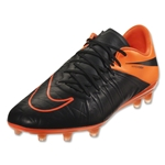 Nike Hypervenom Phinish Leather FG (Black/Total Orange)