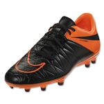 Nike Hypervenom Phelon II TC FG (Black/Total Orange)