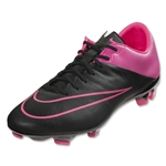 Nike Mercurial Veloce II Leather FG (Black/Hyper Pink)