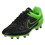 Nike Tiempo Genio Leather FG (Black/Green Strike)