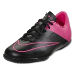 Nike Junior Mercurial Victory V IC (Black/Hyper Pink)