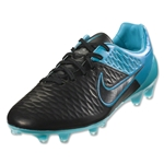 Nike Magista Opus Leather FG (Black/Turquoise Blue)