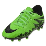 Nike Junior Hypervenom Phelon II FG (Green Strike)