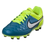 Nike Junior Women's Tiempo Genio FG (Blue Lagoon/White)