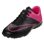 Nike Junior Mercurial Victory V TF (Black/Hyper Pink)