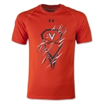 Under Armour Virginia Lacrosse Youth Tech T-Shirt (Orange)