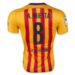 Barcelona 15/16 A. INIESTA Authentic Away Soccer Jersey