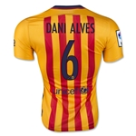 Barcelona 15/16 DANI ALVES Authentic Away Soccer Jersey