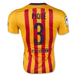 Barcelona 15/16 PIQUE Authentic Away Soccer Jersey