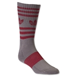 adidas Originals Marl Heritage Crew Sock (Gray/Red)