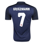 Atletico Madrid 15/16 GRIEZMANN Away Soccer Jersey