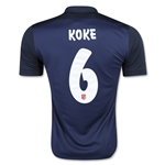 Atletico Madrid 15/16 KOKE Away Soccer Jersey