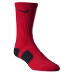 Nike Dri-FIT Elite Crew Socks (Red/Blk)