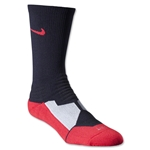 Nike Hyper Elite Crew Socks (Blk/Red)