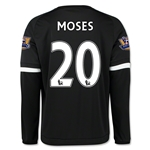 Chelsea 15/16 MOSES LS Third Soccer Jersey