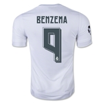 Real Madrid 15/16 BENZEMA UCL Home Soccer Jersey