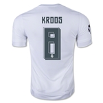 Real Madrid 15/16 KROOS UCL Home Soccer Jersey