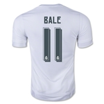 Real Madrid 15/16 BALE Youth UCL Home Soccer Jersey