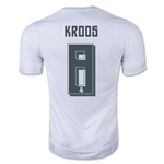 Real Madrid 15/16 KROOS Youth UCL Home Soccer Jersey