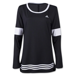 adidas 3-Stripes Women's Tunic T-Shirt (Blk/Wht)