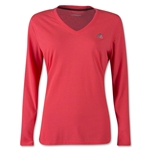 adidas Women's Ultimate LS T-Shirt (Red)