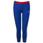 adidas Women's LA 3-Stripes Legging (Blue)