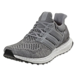 adidas Ultra Boost Running Shoe (Black/Silver Metallic)