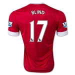Manchester United 15/16 BLIND Authentic Home Soccer Jersey
