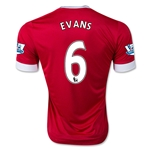 Manchester United 15/16 EVANS Authentic Home Soccer Jersey