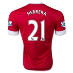 Manchester United 15/16 HERRERA Authentic Home Soccer Jersey