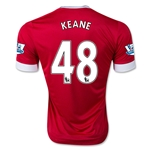 Manchester United 15/16 KEANE Authentic Home Soccer Jersey