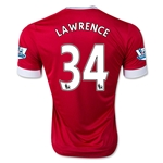 Manchester United 15/16 LAWRENCE Authentic Home Soccer Jersey