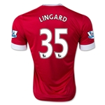Manchester United 15/16 LINGARD Authentic Home Soccer Jersey