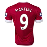 Manchester United 15/16 MARTIAL Authentic Home Soccer Jersey