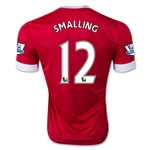 Manchester United 15/16 SMALLING Authentic Home Soccer Jersey
