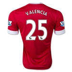 Manchester United 15/16 VALENCIA Authentic Home Soccer Jersey