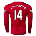 Manchester United 15/16 CHICHARITO LS Home Soccer Jersey