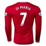 Manchester United 15/16 DI MARIA LS Home Soccer Jersey
