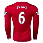 Manchester United 15/16 EVANS LS Home Soccer Jersey